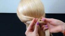Grinding braid loops hairstyle for medium length hair