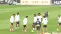 Cristiano Ronaldo celebrates Real Madrid records with truly ridiculous skills in training