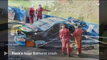 Damien Flack crash at 2015 Aussie Racing Cars-Damien Flack conscious after horror crash at Bathurst