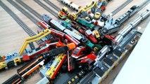 IMMENSE 13 Lego city train crash with Metroliner, Horizon Express, 7740, 7745, 60051, 6005