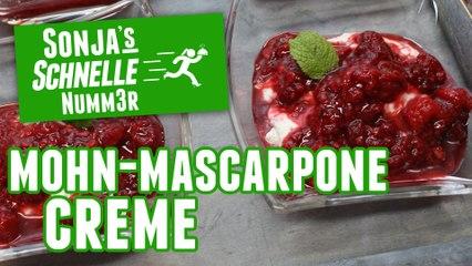 Mohn-Mascarpone-Creme - Rezept (Sonja's Schnelle Nummer #83)