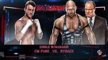 WWE 2K RIVALRIES - CM Punk vs. Ryback | WWE Battleground 2013 | WWE 2K15 Gameplay