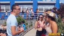 Comment embrasser un étranger Embrasser Card Trick Prank Embrasser étrangers Making Out with Strangers