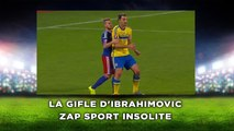 La gifle d'Ibrahimovic, zap sport insolite