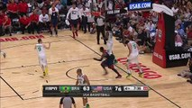 Anthony Davis Throws Down The Alley-Oop Over Tiago Splitter!