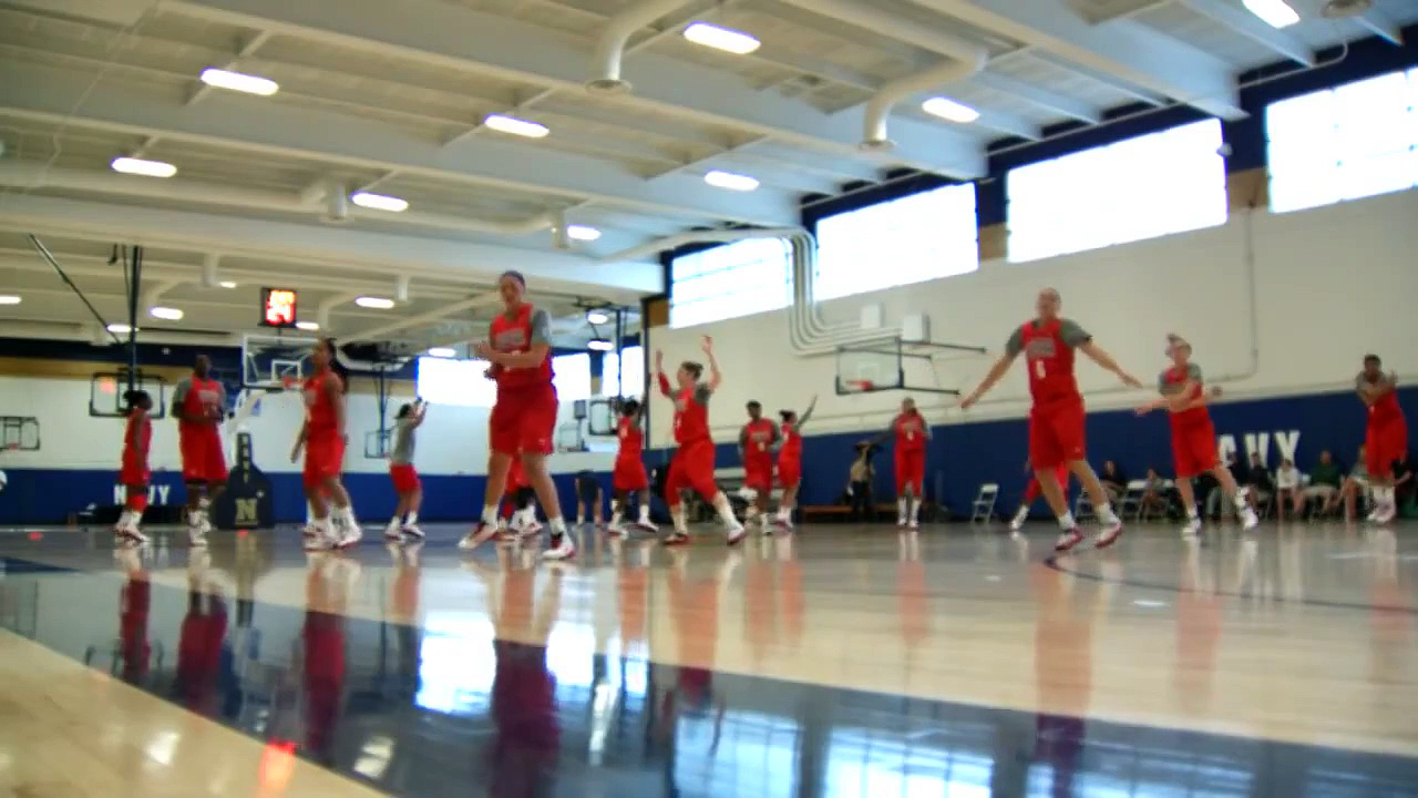 The USA Basketball Womens National Team opens camp at US Naval Academy