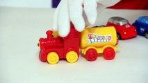 Çocuklar için eğlenceli film - Palyaço Dima - Tren ve arabalar