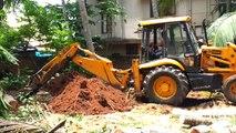 Koparko ładowarka JCB 4CX | JCB stuck in mud | JCB backhoe digging