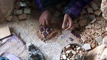 Réalisation d'une mosaïque à la main