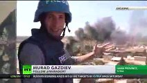 Report from the frontline where Syrian troops fighting ISIS (EXCLUSIVE)