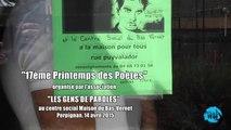 14 Avril 2015 - 17ème Printemps des Poètes au centre social Maison du Bas-Vernet 2015