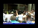 Estudiantes protestan frente al Palacio de Justicia en Caracas por liberación de compañeros