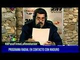 Esta es la reacción de Maduro cuando, en pleno programa de radio, se le va la luz