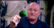 Expériences magiques dans la station spatiale ISS - Faire changer de couleur des bulles de liquide en suspension dans l'air
