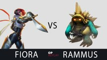 [Highlights] Fiora vs Rammus - SKT T1 Faker KR LOL SoloQ