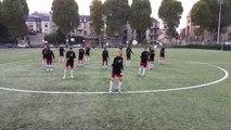 L'échauffement très original des U15 du FC Metz