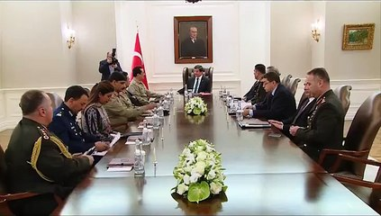 Video footage of COAS meeting with Turkish Prime Minister and President today.