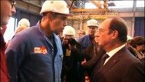 A Saint-Nazaire, deux représentants de la CGT refusent de serrer la main de François Hollande