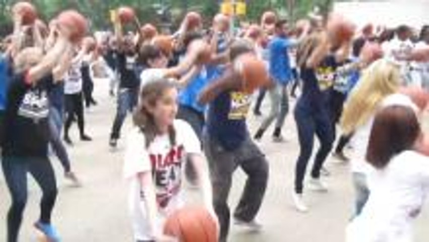 NBA Flash Mob in NYC