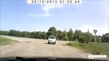 Deadly accident in Russia FRONT TIRE EXPLOSION / Tyre Burst FATAL CRASH