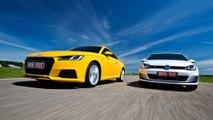 Audi TT 2.0 quattro vs VW Golf GTI