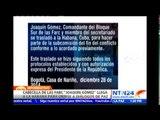 """Gobierno colombiano traslada a líder de las FARC """"Joaquín Gómez"""" a La Habana"""