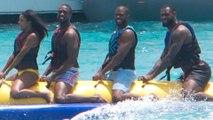 Who's to Blame for Awkward Dwyane Wade, Chris Paul, & LeBron James Banana Boat Pic?