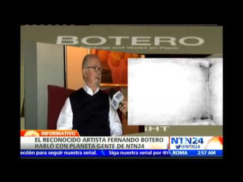 Reconocido artista Fernando Botero habla con Planeta Gente de NTN24 sobre su nuevo proyecto