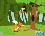 Le Corbeau et le Renard les Fables de La Fontaine en dessin animé Hellokids.com