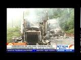 Terroristas de las FARC queman cinco camiones que transportaban petróleo en vías del sur de Colombia
