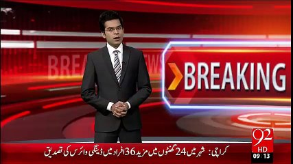 Breaking News- Karachi Landsliding  Maiyatain Abaie Gaon Mian Puhancha Di Gain– 14 Oct 15 - 92 News HD