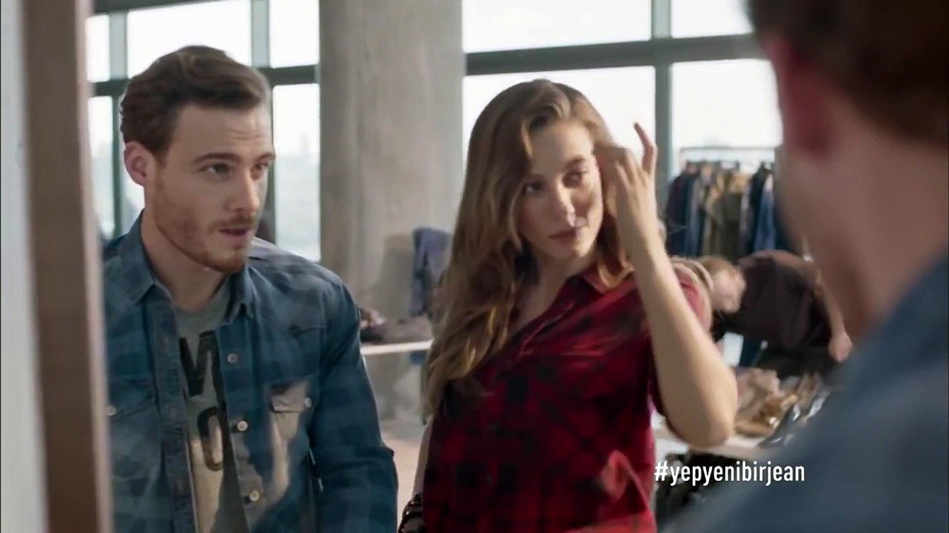 Kerem Bursin Serenay Sarıkaya Mavi Reklam Filmi Eylül 2015 #Yepyenibirjean