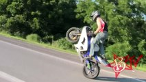 INSANE Long Motorcycle Combo Wheelie On Highway Motorbike Wheelies Stunt Bike Stunts Stree