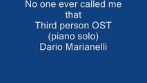 Mercuzio Pianist - No one ever called me that - Third Person (piano solo) Music by Dario Marianelli
