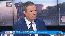 """Dupont-Aignan : """"Je préférerais que Le Drian reste en fonction"""""""