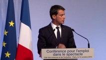 Conférence pour l'emploi dans le spectacle, discours de Manuel Valls, Premier Ministre