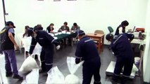 Two tonnes of cocaine burned by Peruvian authorities