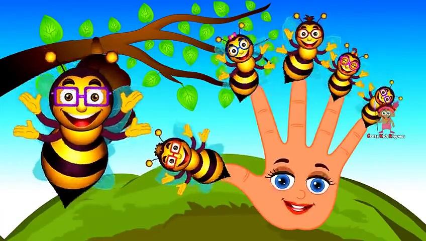 Honey Bee Finger Family _ Daddy Finger Family Songs _ Honey Bee Cartoon Animation Rhymes f
