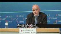 Foot - UEFA : Infantino «Pas juste de se prononcer avant la fin de l'affaire»