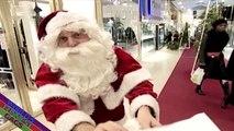Santa Christmas Prank Santa demands payment for christmas gifts