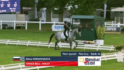 Ingrid Klimke and Weisse Duene provisory leaders in 6yo championship after the dressage test.