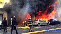 Incendie dans le centre de Nice