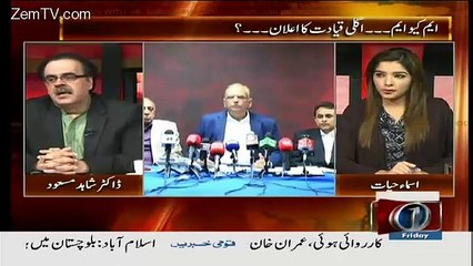 Live With Dr Shahid Masood - 16th October 2015
