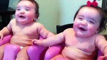 Funny Baby Video Twin babies laughing, crying, and then laughing again