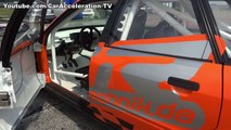 Audi 80 VR6 Quattro Turbo 1100hp Drag Race Acceleration & Sound