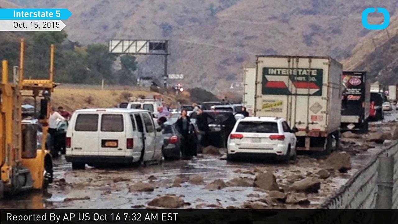 Mudslide Covers Interstate 5 Near Los Angeles