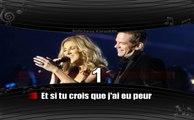 Karaoké Céline Dion et Garou - Sous le vent (avec voix féminine)