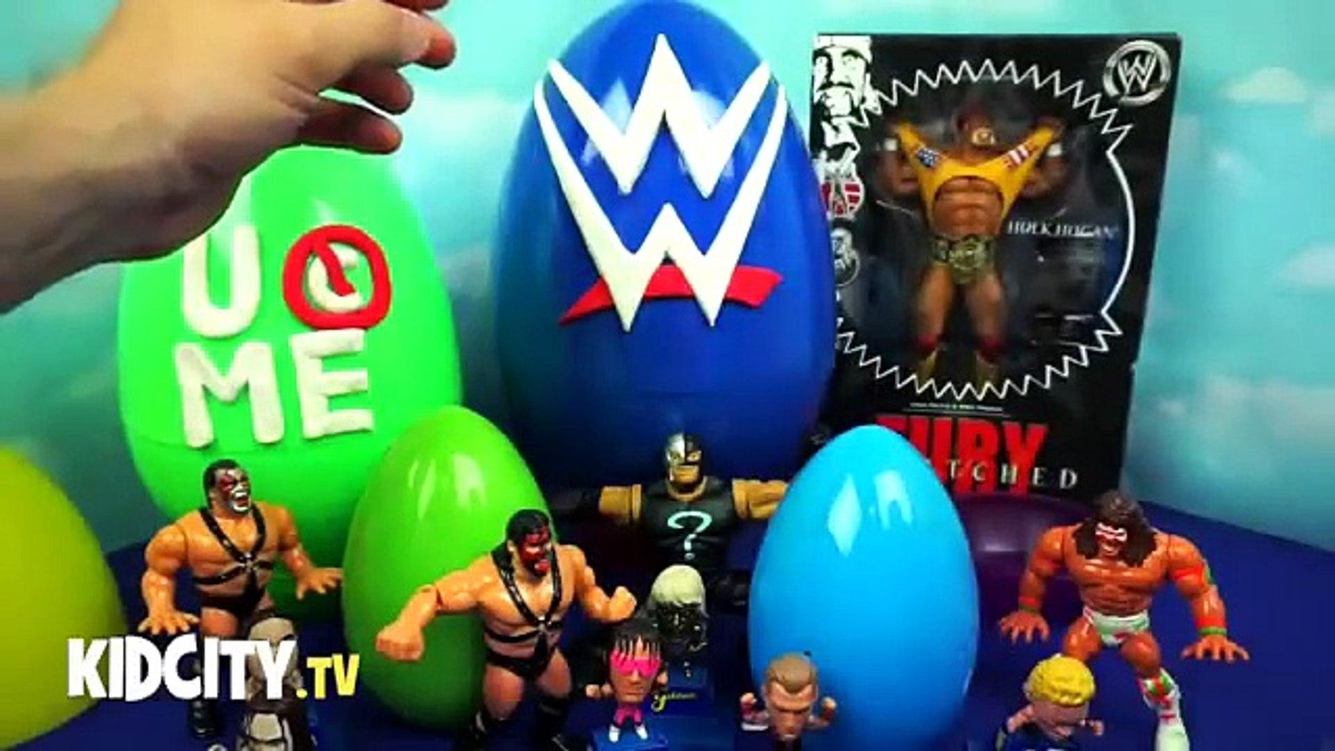 WWE Toys - WWE Surprise Eggs ft. WWE Stackdown Blind Bags - John Cena Figure & Hulk Hogan