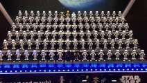 110 Star Wars Opera Toys dancing together in Japan Store