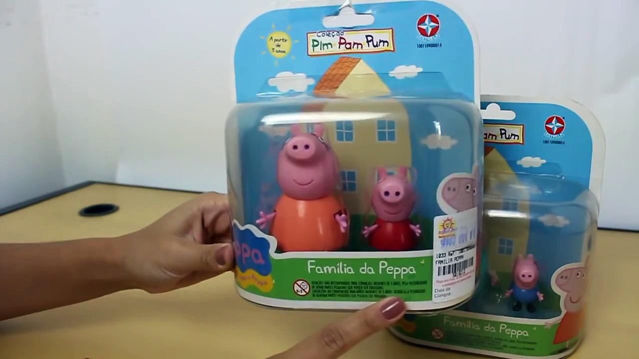 Brinquedos Peppa Pig: George Pig, Mamãe Pig, Papai Pig e Peppa Pig!